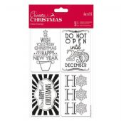 Docrafts - Create Christmas - Clear Stamps Tags - PMA 907948